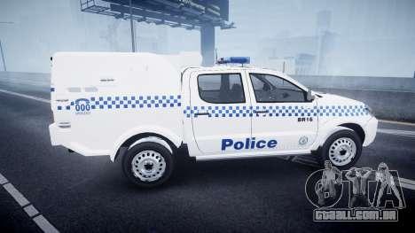 Toyota Hilux NSWPF [ELS] para GTA 4 esquerda vista
