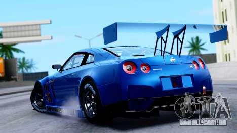 Nissan GT-R (R35) GT3 2012 PJ2 para GTA San Andreas esquerda vista