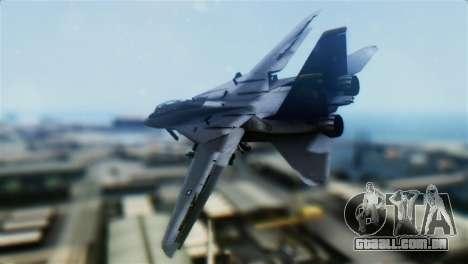 F-14D Super Tomcat Halloween Pumpkin para GTA San Andreas esquerda vista