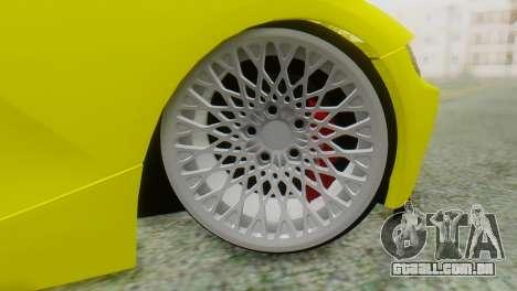BMW Z4 Construção Ens para GTA San Andreas traseira esquerda vista