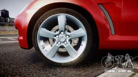 Mazda RX-8 2006 v3.2 Advan tires para GTA 4 vista de volta