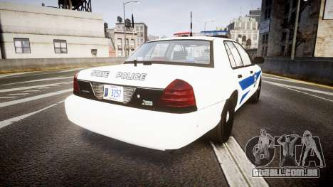 Ford Crown Victoria Indiana State Police [ELS] para GTA 4 traseira esquerda vista
