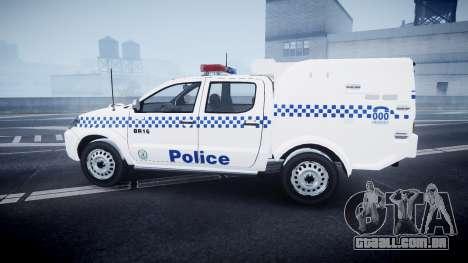 Toyota Hilux NSWPF [ELS] scoop para GTA 4 esquerda vista
