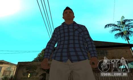Skin Claude [HD] para GTA San Andreas por diante tela