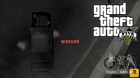 GTA V Wasted and Busted Sound [CLEO] para GTA San Andreas
