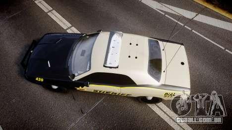 Dodge Challenger MCSO [ELS] para GTA 4 vista direita