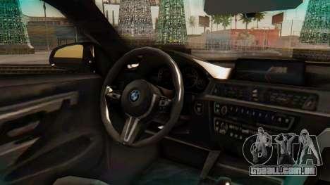BMW M4 2015 IVF para GTA San Andreas vista direita