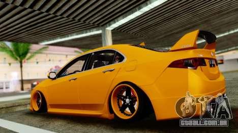 Acura TSX Hellaflush 2010 para GTA San Andreas traseira esquerda vista