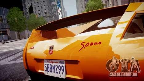 GTA Spano 2013 para GTA 4 vista interior