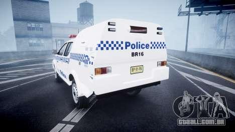 Toyota Hilux NSWPF [ELS] para GTA 4 traseira esquerda vista
