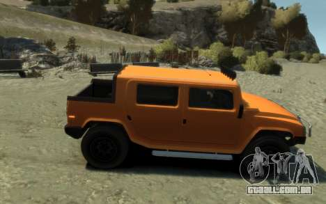 Mammoth Patriot Pickup para GTA 4 traseira esquerda vista
