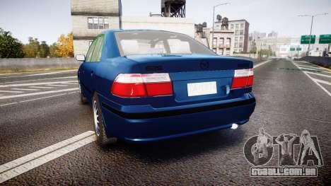 Mazda 626 para GTA 4 traseira esquerda vista