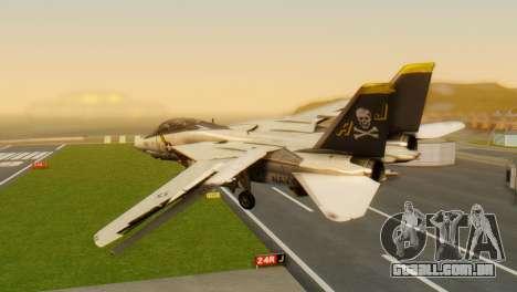 F-14A Tomcat VF-202 Superheats para GTA San Andreas esquerda vista