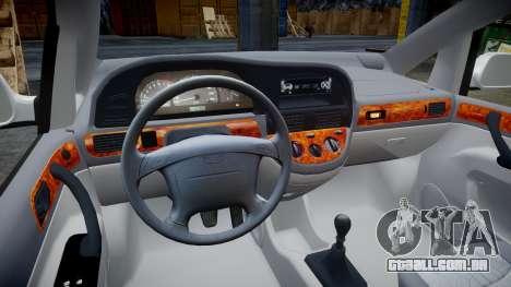Daewoo Tacuma 2001 para GTA 4 vista de volta
