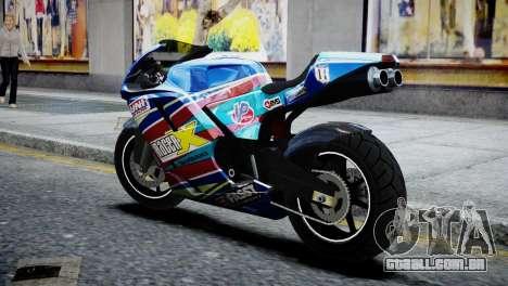 Bike Bati 2 HD Skin 2 para GTA 4 esquerda vista