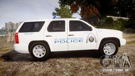 Chevrolet Tahoe Metropolitan Police [ELS] para GTA 4 esquerda vista