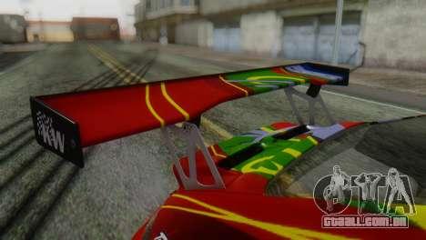 Porsche 911 GT3-RSR para GTA San Andreas vista traseira