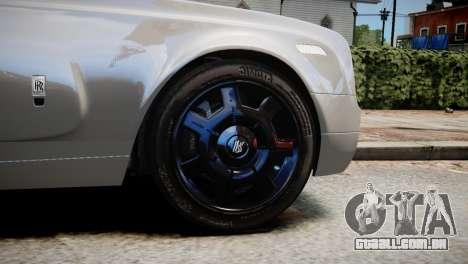 Rolls-Royce Phantom Coupe 2009 para GTA 4 traseira esquerda vista