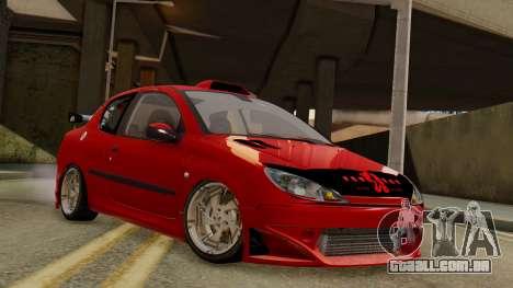 Peugeot 206 SD Coupe Tuning para GTA San Andreas