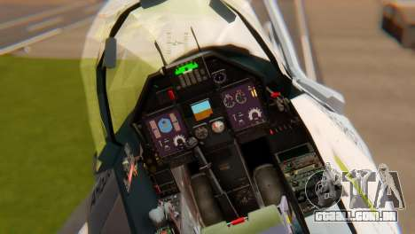Embraer A-1 AMX FAB para GTA San Andreas vista traseira