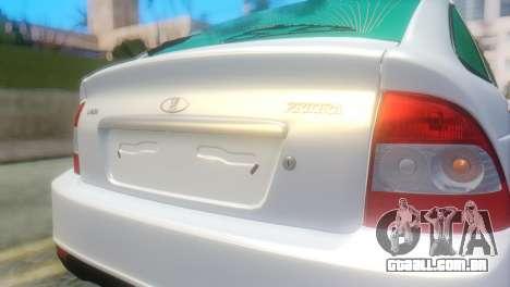 VAZ 2172 para GTA San Andreas vista traseira
