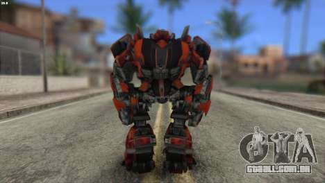Autobot Titan Skin from Transformers para GTA San Andreas segunda tela