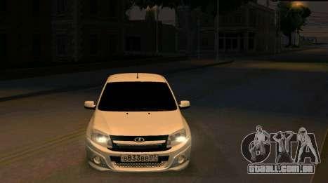 VAZ 2190 Esporte para GTA San Andreas vista traseira