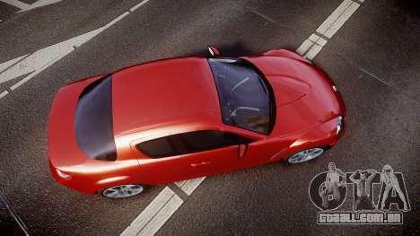 Mazda RX-8 2006 v3.2 Advan tires para GTA 4 vista direita