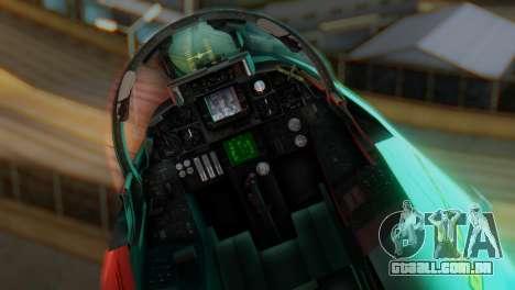 F-14A Tomcat Marynarka Wojenna RP para GTA San Andreas vista traseira