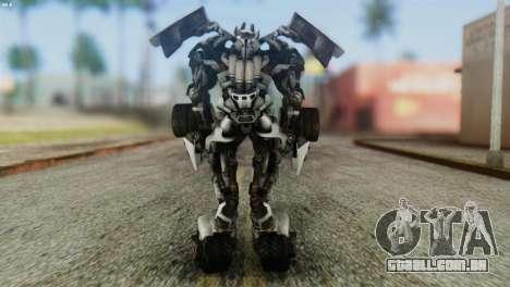 Sideswipe Skin from Transformers v2 para GTA San Andreas terceira tela