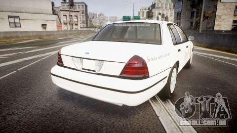 Ford Crown Victoria Sacramento Sheriff [ELS] para GTA 4 traseira esquerda vista