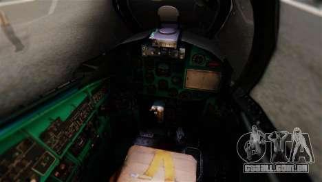 Mil Mi-24V Czech Air Force Tigermeet para GTA San Andreas vista traseira