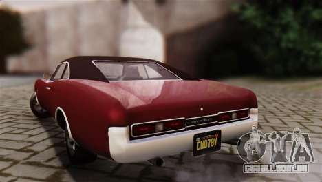 GTA 5 Imponte Dukes IVF para GTA San Andreas esquerda vista