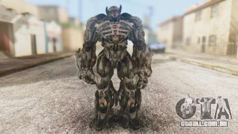 Shockwave Skin from Transformers v1 para GTA San Andreas segunda tela
