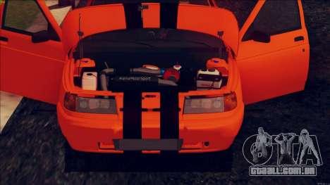 VAZ 2112 Turbo para GTA San Andreas vista traseira