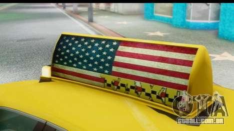New Taxi para GTA San Andreas vista traseira