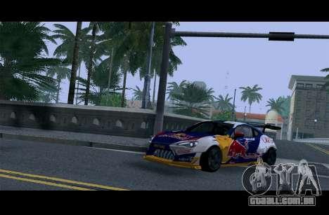 Toyota GT86 Red Bull para GTA San Andreas vista interior