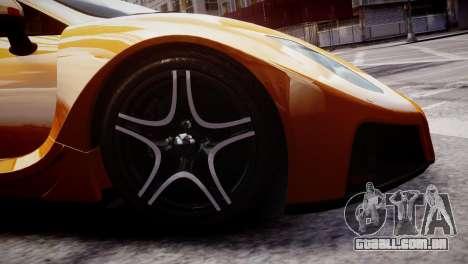 GTA Spano 2013 para GTA 4 vista de volta