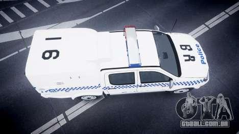 Toyota Hilux NSWPF [ELS] scoop para GTA 4 vista direita