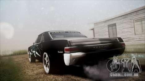 Pontiac GTO Black Rock Shooter para GTA San Andreas esquerda vista