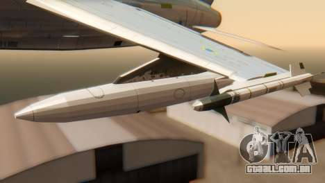 Embraer A-1 AMX FAB para GTA San Andreas vista direita