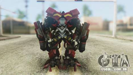 Ironhide Skin from Transformers v1 para GTA San Andreas terceira tela