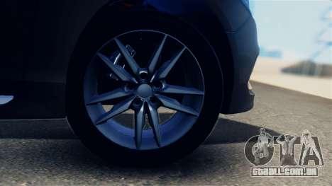 Hyundai Sonata 2015 para GTA San Andreas vista traseira