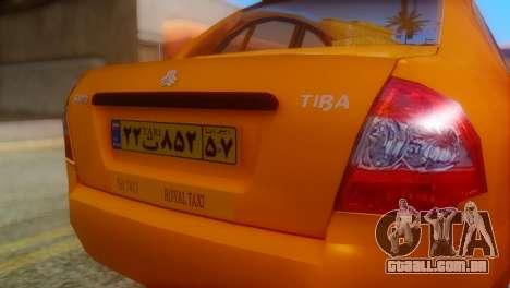 Tiba Taxi v1 para GTA San Andreas vista traseira