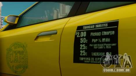 New Taxi para GTA San Andreas vista direita