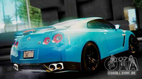 Nissan GT-R 2015 para GTA San Andreas traseira esquerda vista