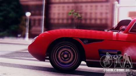 GTA 5 Benefactor Stirling GT para GTA San Andreas vista traseira