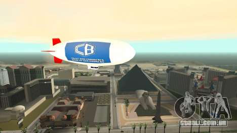 Publicidade dirigíveis para GTA San Andreas por diante tela