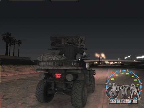 Simples velocímetro para GTA San Andreas quinto tela