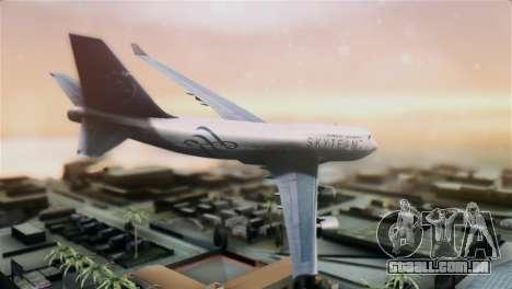 Boeing 747-400 Garuda Indonesia Sky Team para GTA San Andreas esquerda vista
